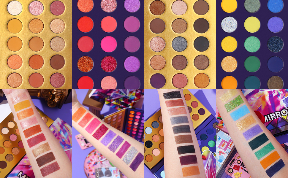 mirror eye palette color swatches