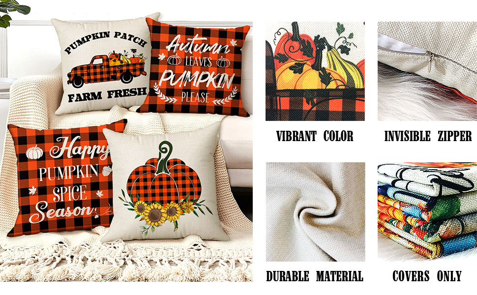 outdoor fall pillow covers 18x18