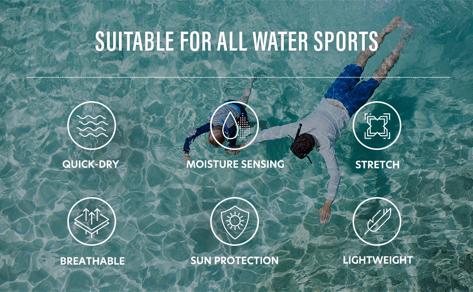 suitable for all water sports