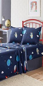 Spaceship Bed Sheetsamp;amp; Pillowcases
