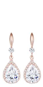 Jertom 14k gold coppel crystal earrings