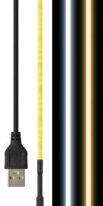LEDテープライト 線状の3mm 貼レルヤ USB