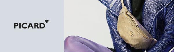 Picard taschen abendtaschen ausgehen gürteltasche leder echtleder hochwertig
