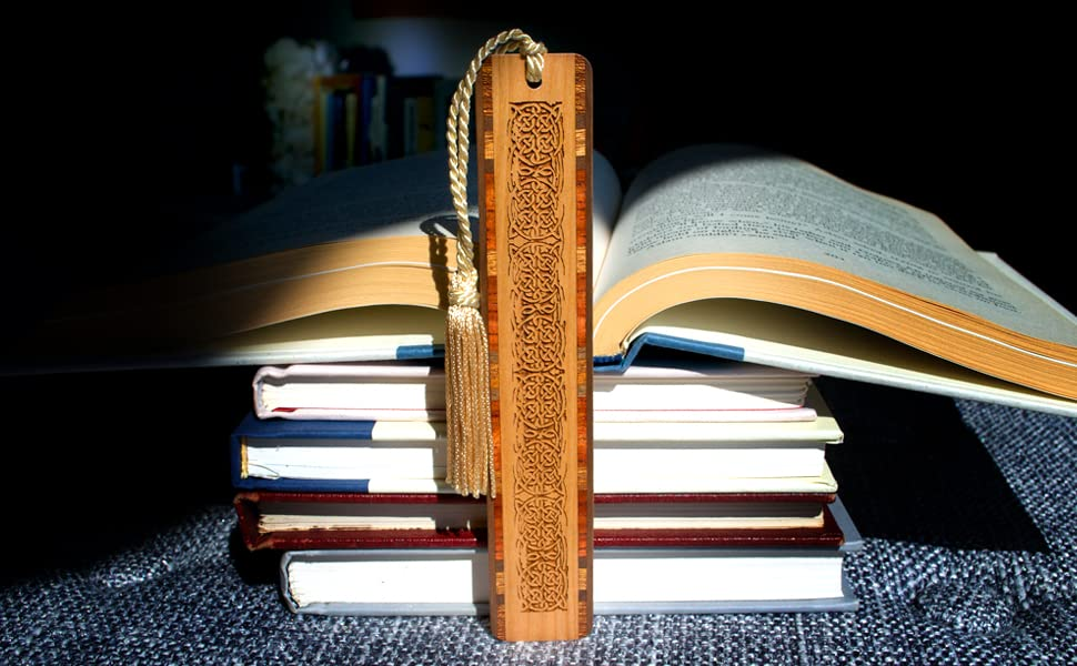 Celtic Knot on Cherry wood bookmark