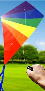 diamond rainbow kite