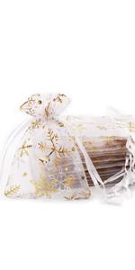 20 Pcs 10x 12cm Organza  Gift Bag(White)