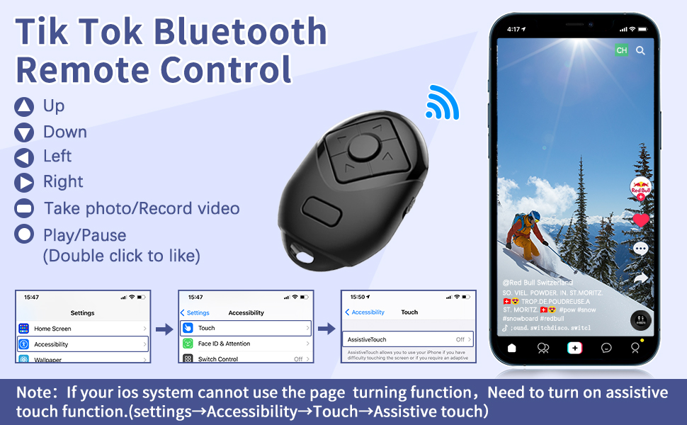Remote control button introduction