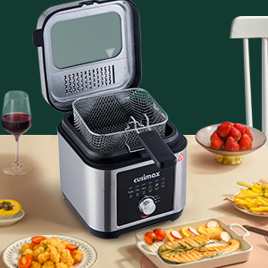 Deep fryer for home with basket