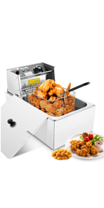 Upgraded 6L Electric Deep Fryer