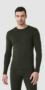 Men's Merino Wool Base Layer Top M29