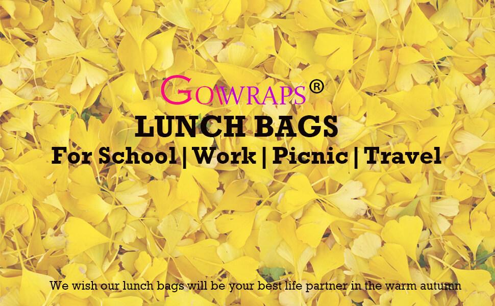 Neoprene Lunch Bags For Women Men Kids