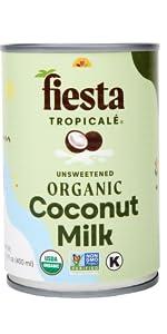Fiesta Tropicale Organic Coconut Milk Unsweetened