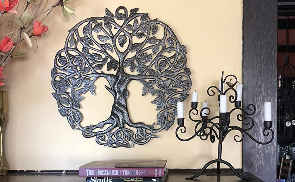 Metal Tree of Life in Haiti