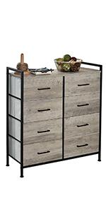 6 Drawer Dresser Nightstand Rustic Tower Living Room  Bedroom Hallwayer