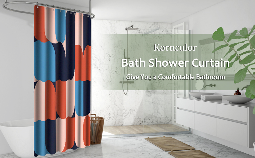 Kornculor Bath Shower Curtain