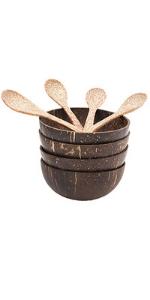 Polished Coconut Bowl Set 4