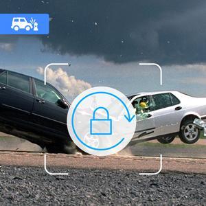 Emergency Recording LOCK dash cam for car