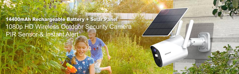 Solar Powered Camera with Rechargeable Battery