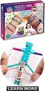 Crafty Witty Paracord Charm Bracelet Kit - Girls Project Activity Gift Set