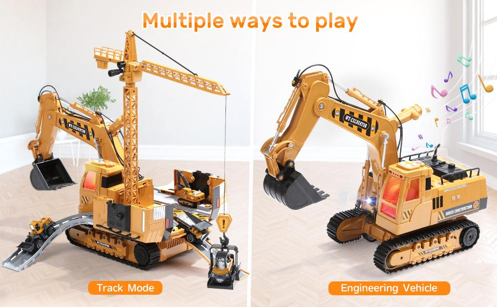 CUTE STONE Construction Toy Vehicle Playsets