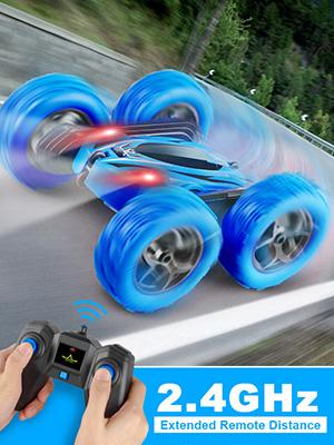 4WD 2.4Ghz Full Functional RC Stunt Car Extended Remote Distance
