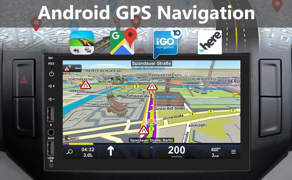 7 inch HD car radio MP5 player with GPS Naviagation