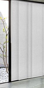 GoDear Design Adjustable Sliding Panel Track Blind White Grey Zipper