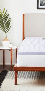 Zoned lavender infused mattress topper