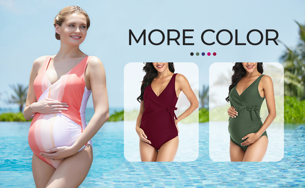 tie front maternity swimsuit
