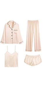 satin pajama set for women