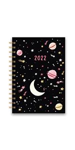 Moons amp; Stars Medium Spiral Planner 2022
