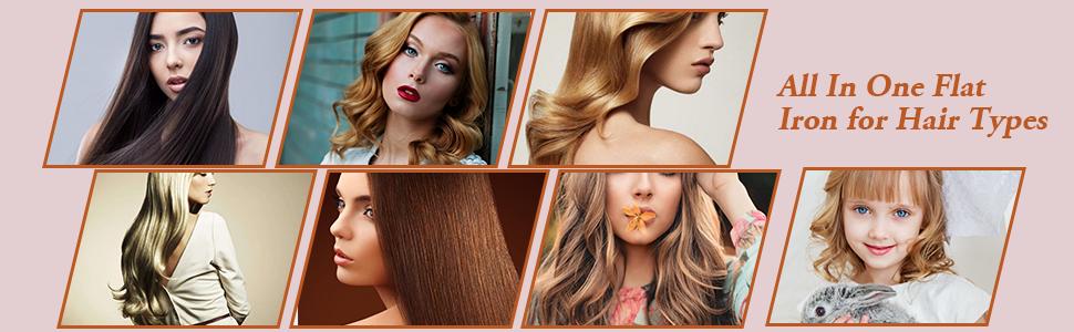 hair waver curling iron hair waver iron ceramic tourmaline hair straightener wave flat iron straight
