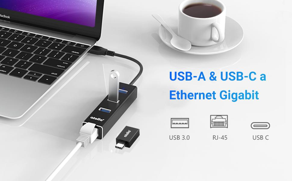 Hub USB  ethernet