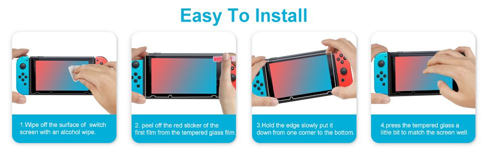 Screen Protector Tempered Glass for Nintendo Switch