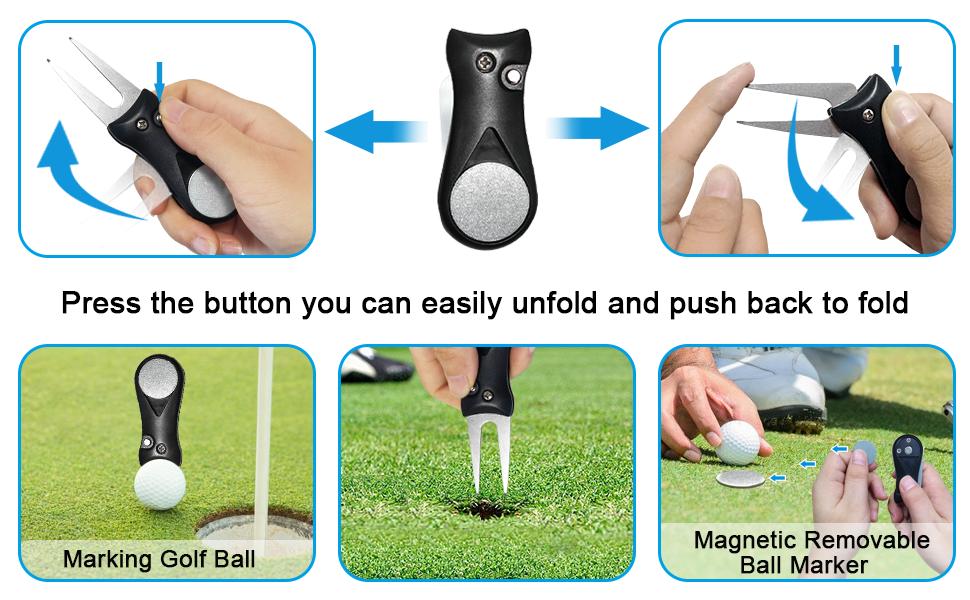 Golf Towel  Golf Bag Golf Brush Tool Cooling Towel Golf Divot Tool Golf Tees Golf Accsseories