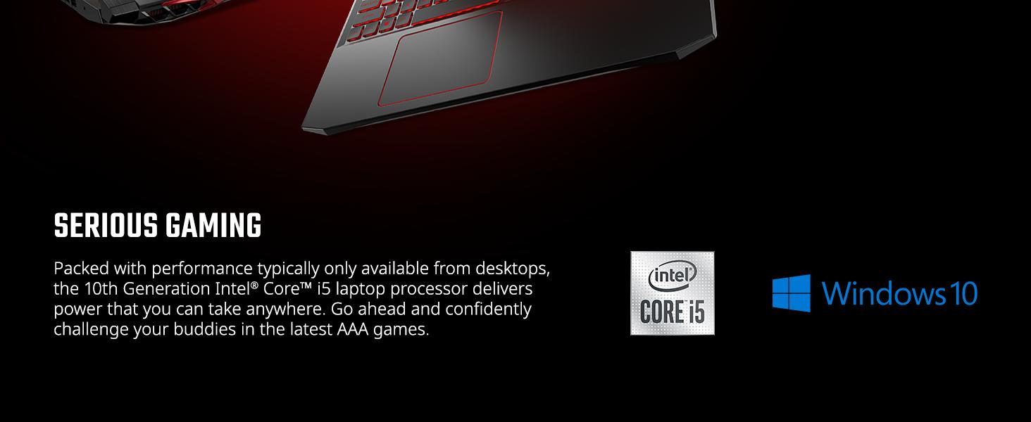 intel core i5 10th gen generation aaa games performance desktop laptop power