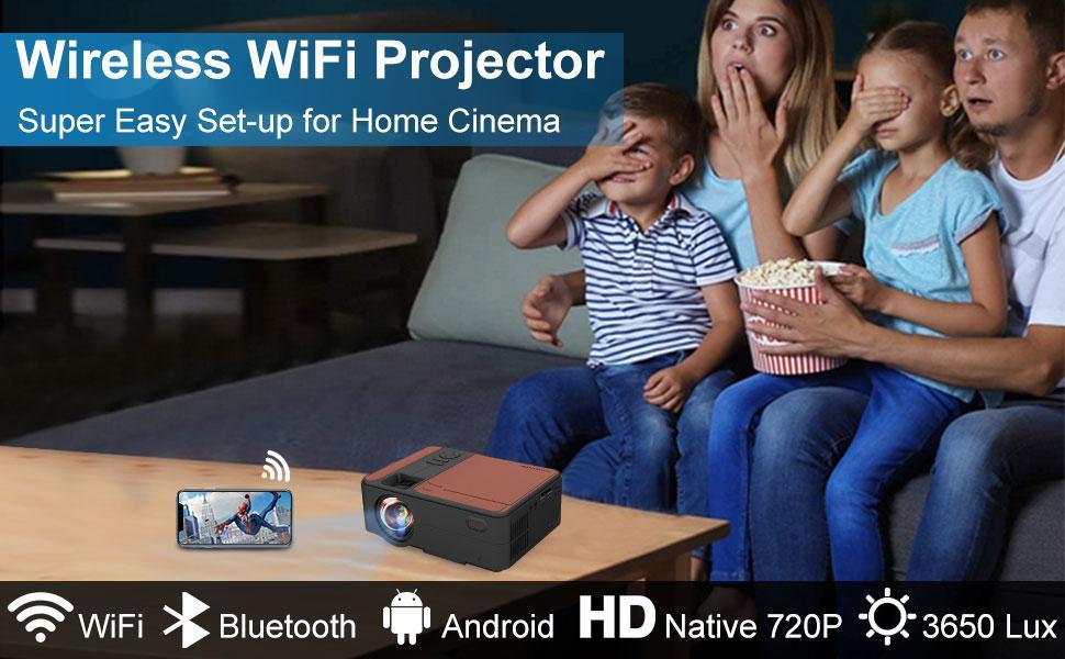Wireless WIFI Projector Portable
