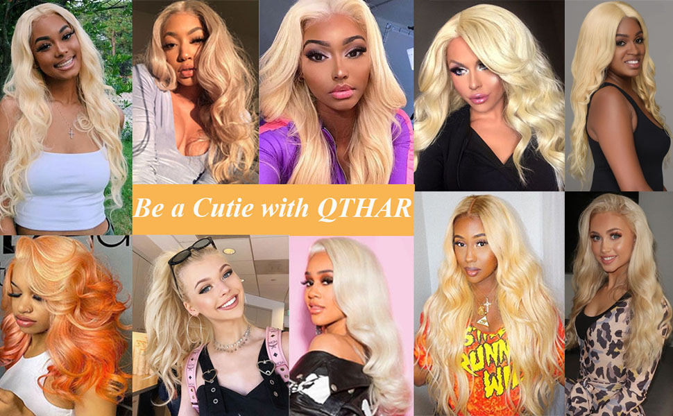 613 Blonde Lace Front Wig Human Hair Pre Plucked