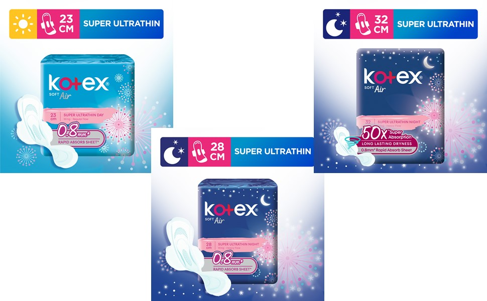 Kotex Super Ultrathin Air 23cm 28cm 32cm