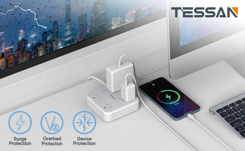 TESSAN Surge Protector Power Strip