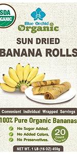 Blue Orchid Organic Banana Rolls