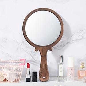 wooden handheld mirror