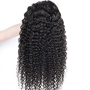 Jerry Curly Headband Wigs Human Hair Full Machine Made Wigs Curly Headband with Pre-attached Scarf