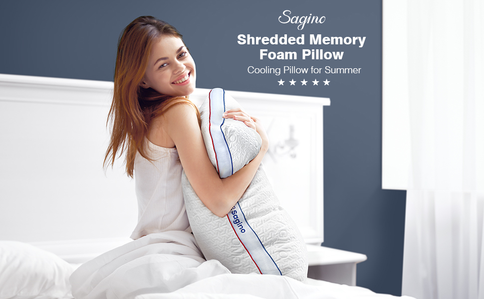Saginο Shredded Memory Foam Pillow