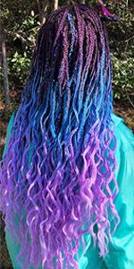 Purple to Lake Blue to Light Purple