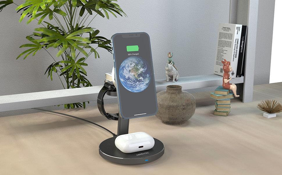 3 in 1 Magnetic Wireless Charging Dock for Multiple Devices