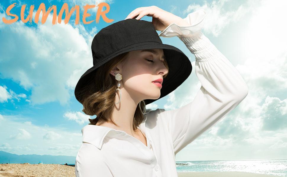 womens sun hat beach hats detachable chin strap