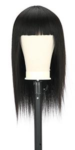 Straight Full Machin Made Human Hair Wigs