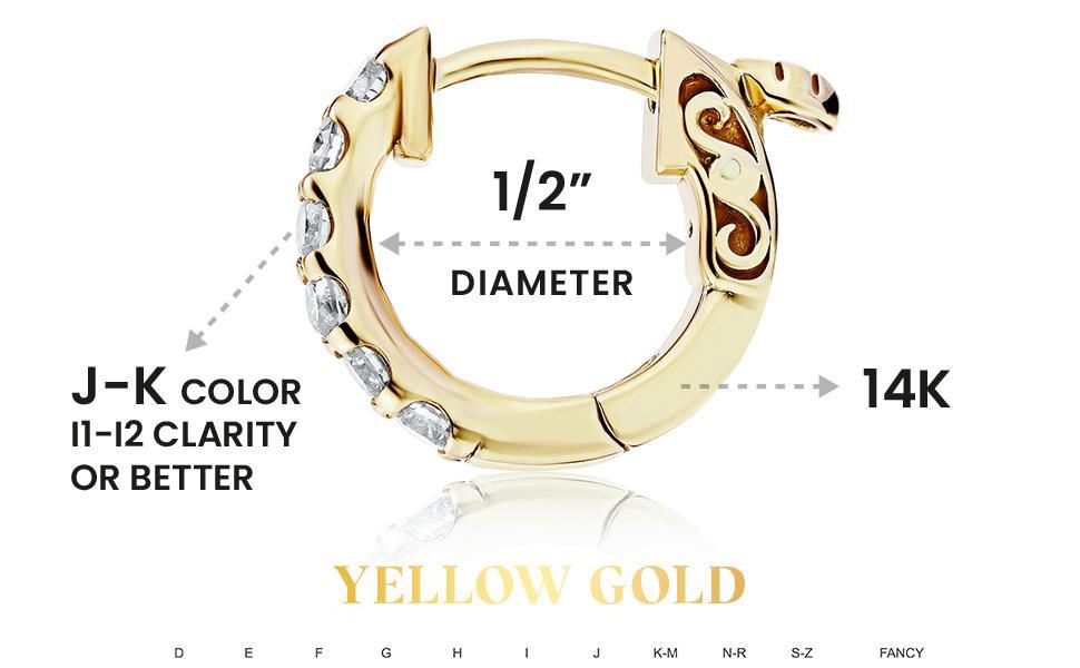 Diamond Hoop Sizes for Women