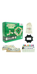 Mexican Train Dominos Set With Storage Bag